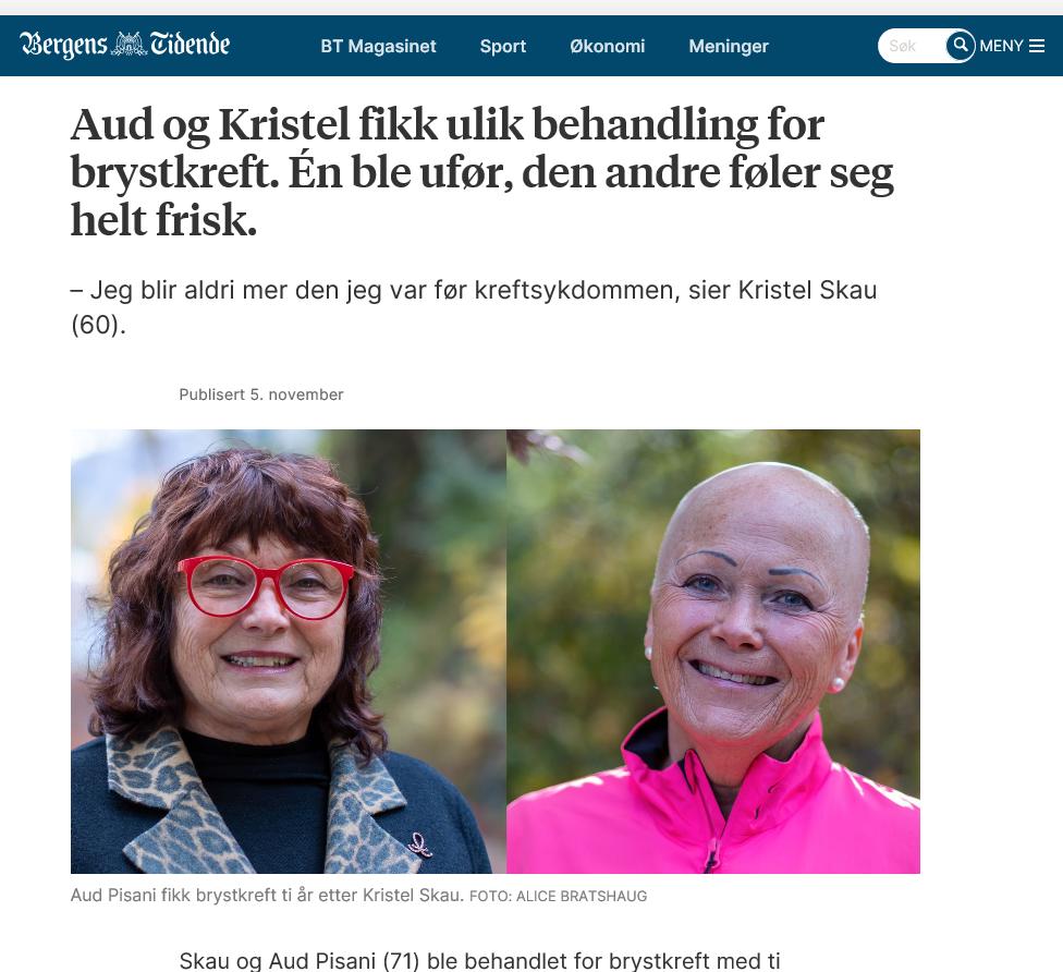 Faksimile fra Bergens Tidende 5 nov 2020