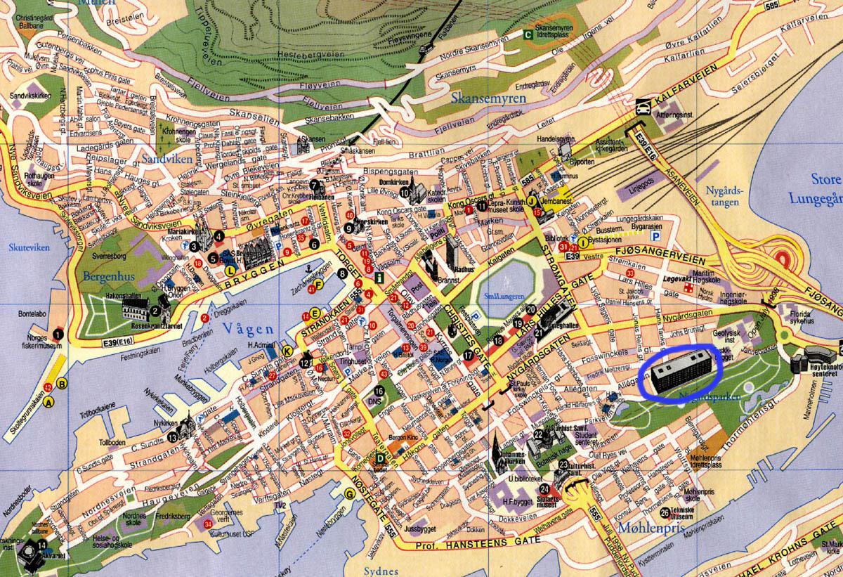 Bykart over Bergen