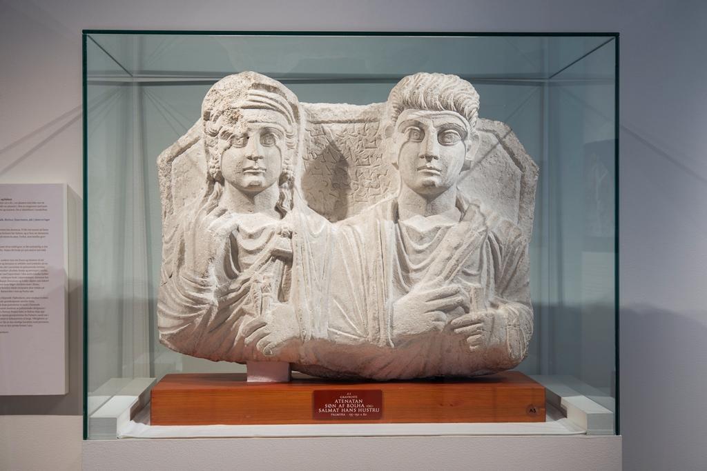 Bilde av 2000 år gammel byste fra Palmyra