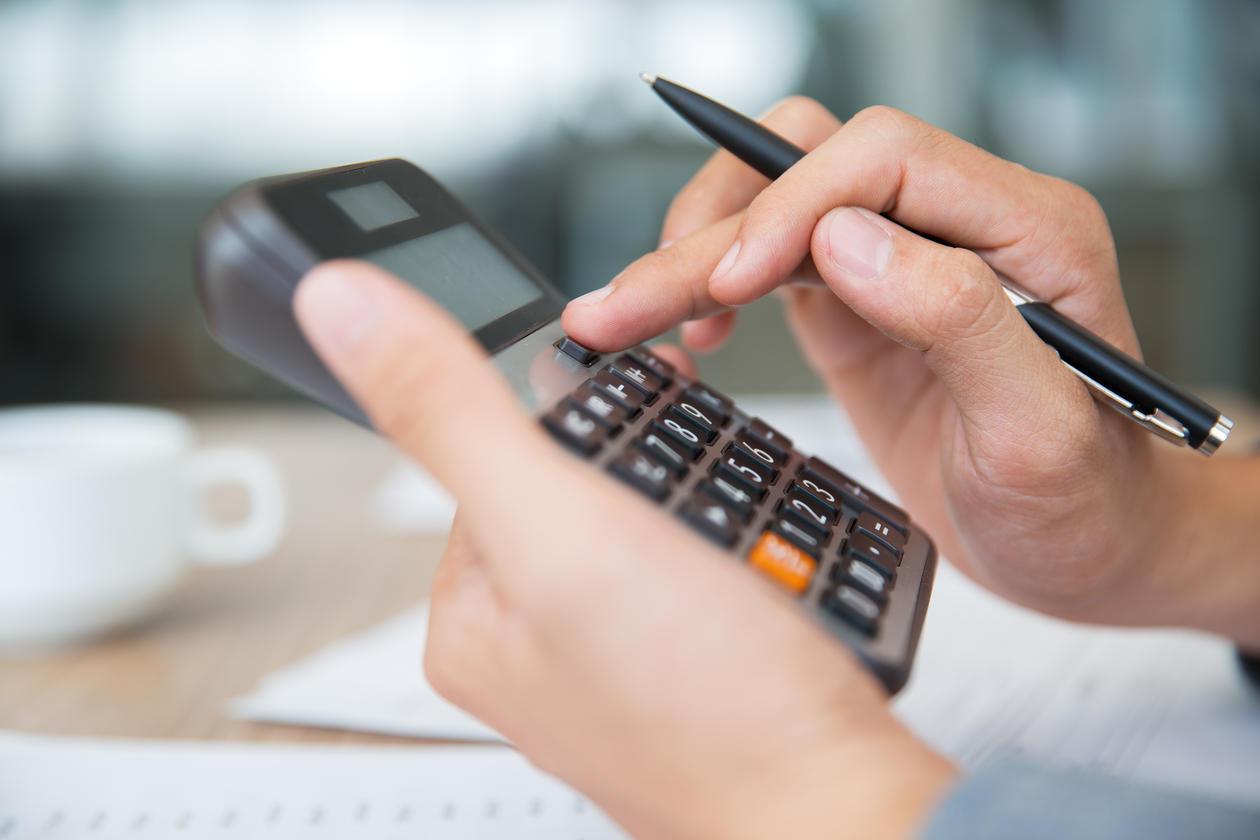 Calculator in a hand