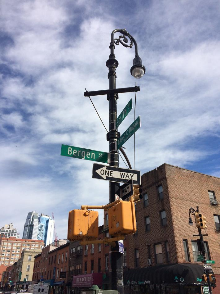 Bilde fra gate i New Haven