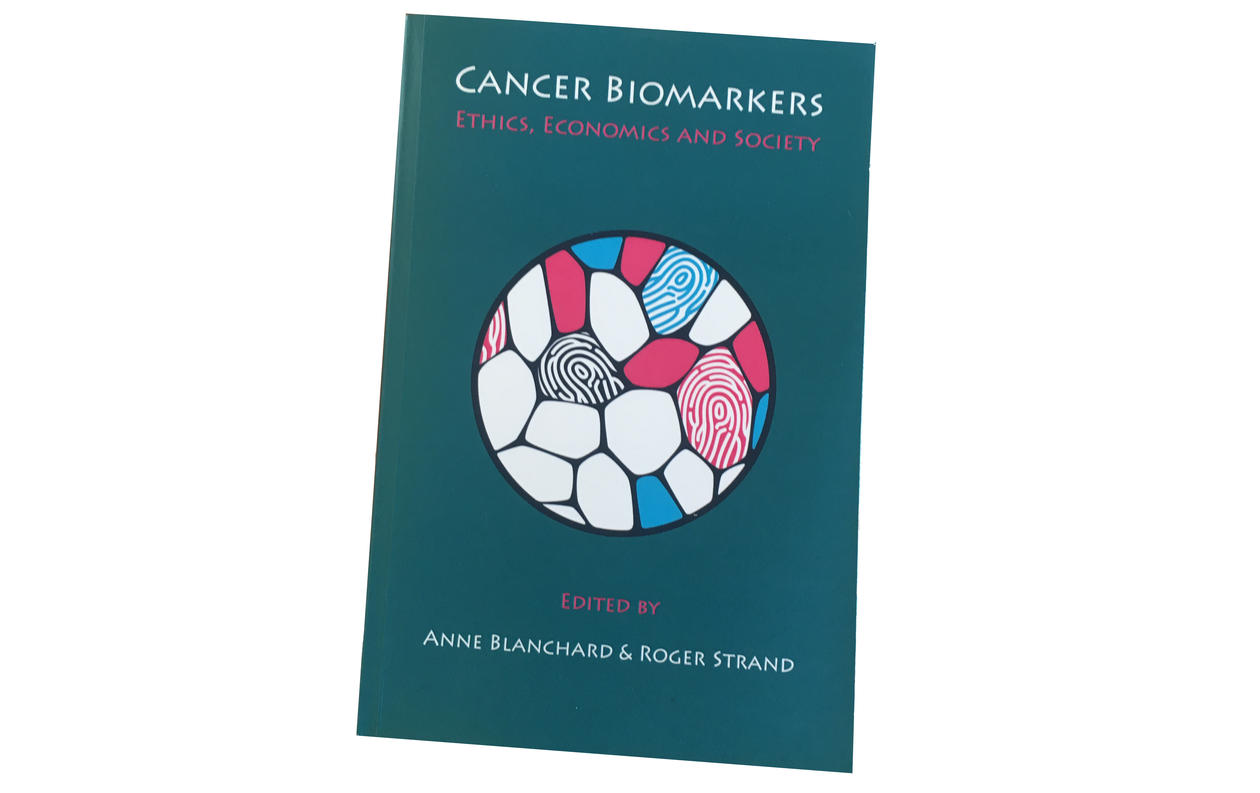 Cover of the Cancer Biomarkers book by Roger Strand and Anne Blanchard.
