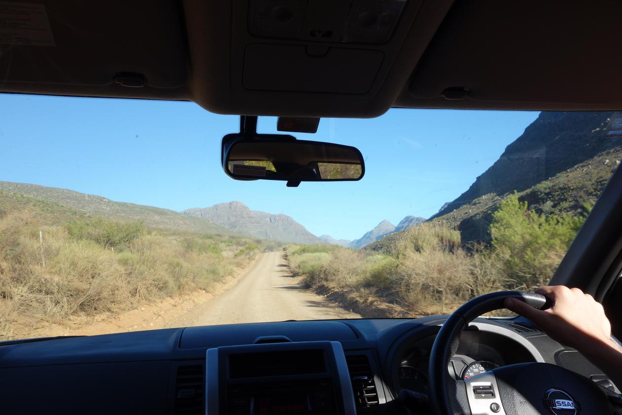 Kjøretur i fjella rundt Cape Town
