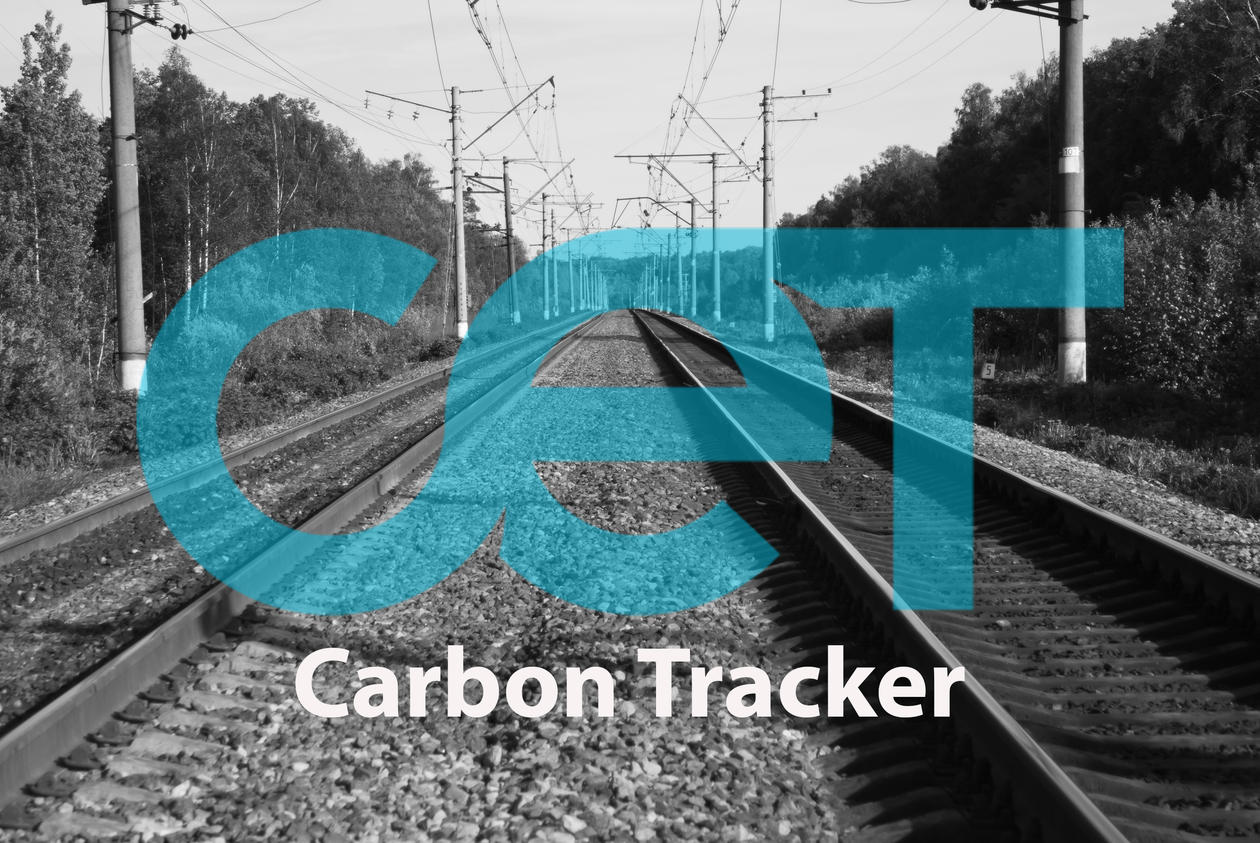 railroad tracks with CET Carbon Tracker