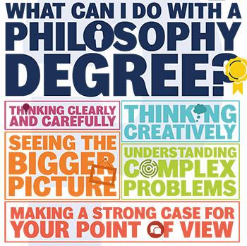 Tekstbokser med ulike evner man utvikler ved å studere filosofi