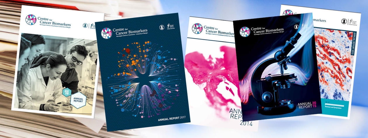 Coverphotos of the CCBIO annual reports.