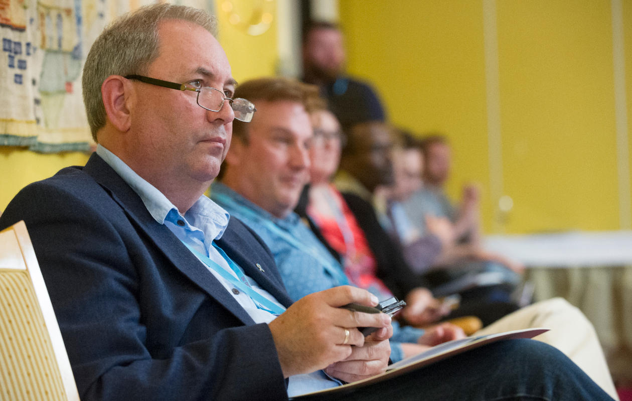 CCBIO Director Lars A. Akslen is attentively following the talks from the audience.