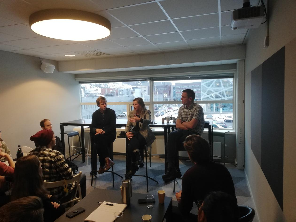 panel discussion with three people