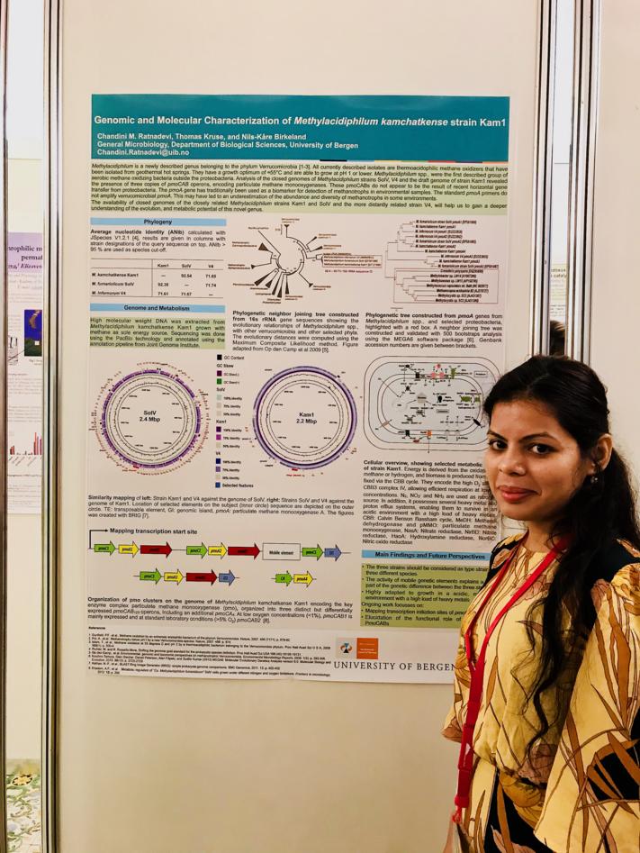 Chandini Murarilal Ratnadevi at the poster presentation.