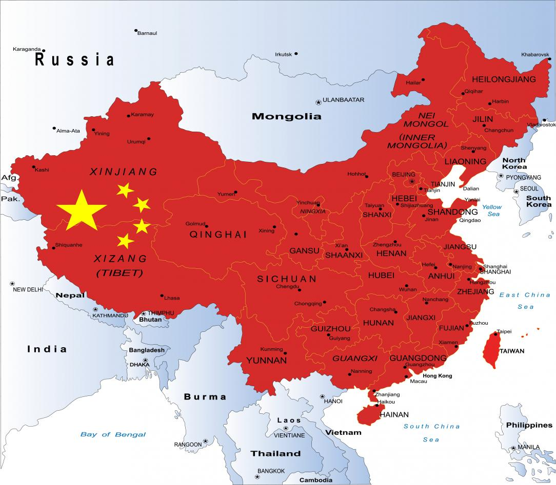 kart av kina Kina til «krig mot forurensing» | Universitetet i Bergen kart av kina