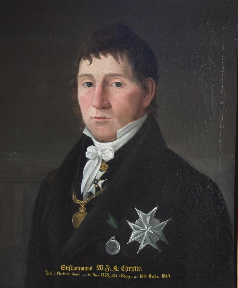 Portrett av Wilhelm Frimann Koren Christie, maleri