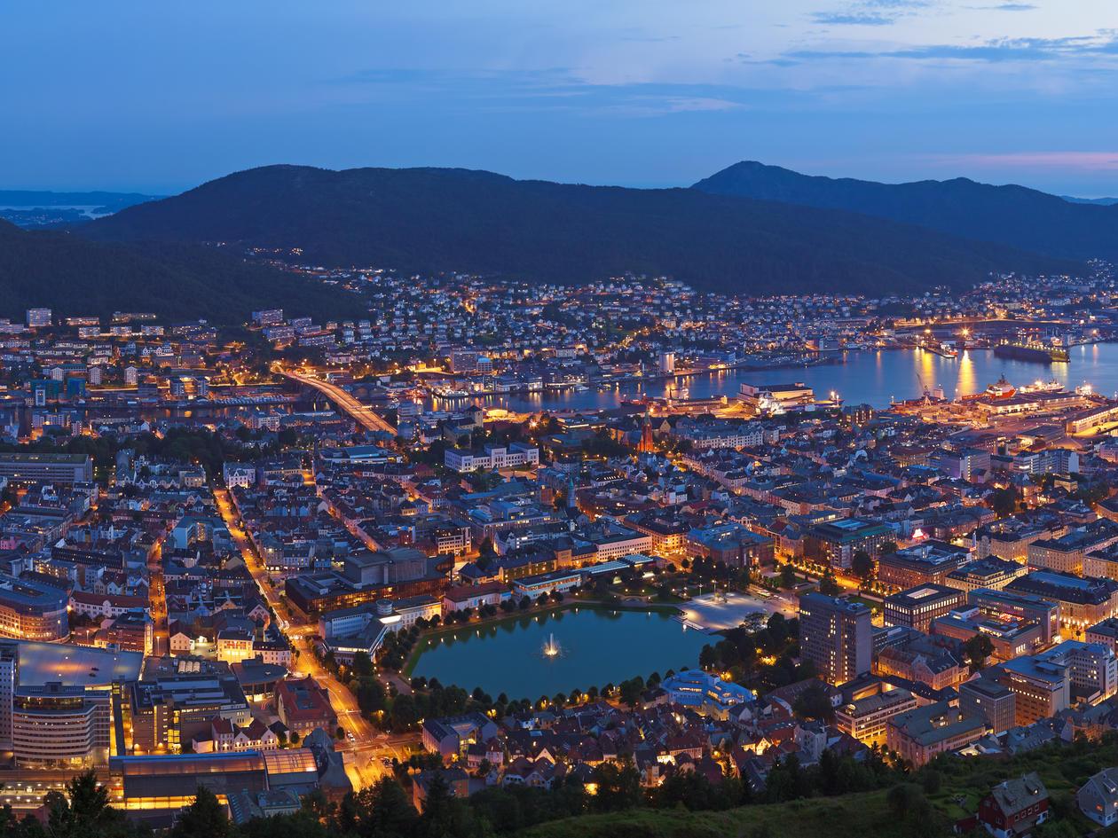 Cityscape of Bergen