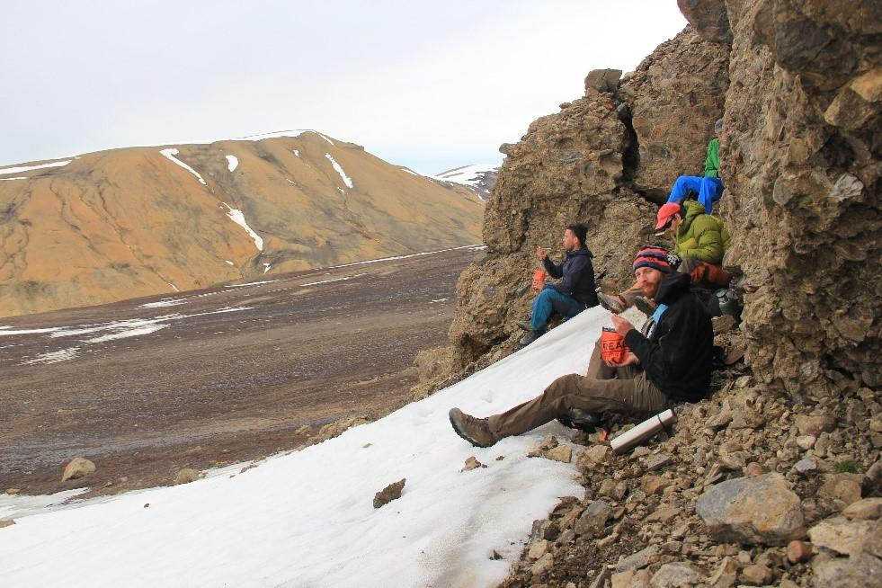 Rest at mountain in Greenland