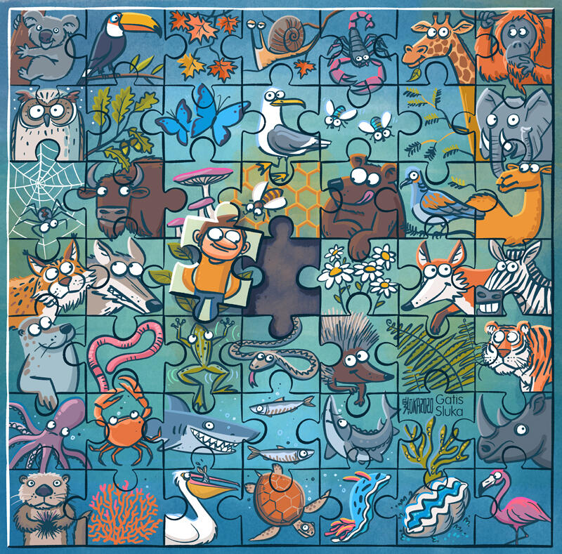 United for Biodiversity puzzle graphic