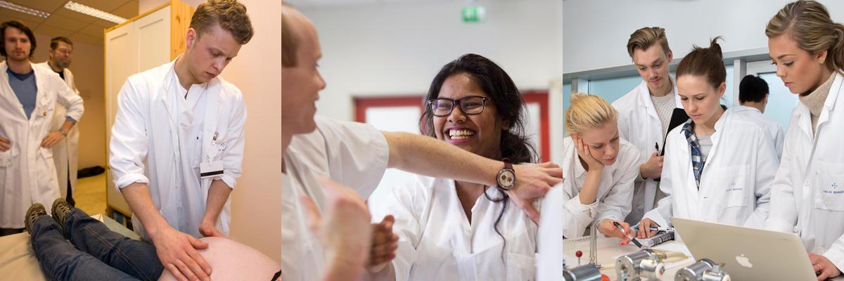 Studenter ved medisinstudiet i studentaktive situasjoner