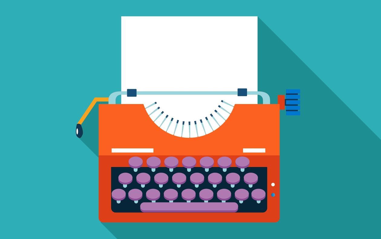 Illustrasjonsbilde av en skrivemaskin