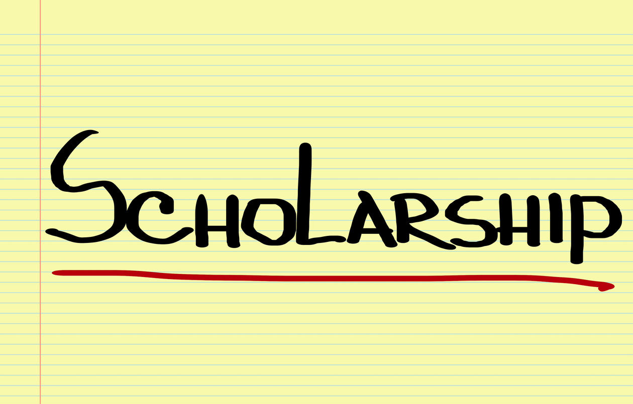Scholarship written on a piece of pater