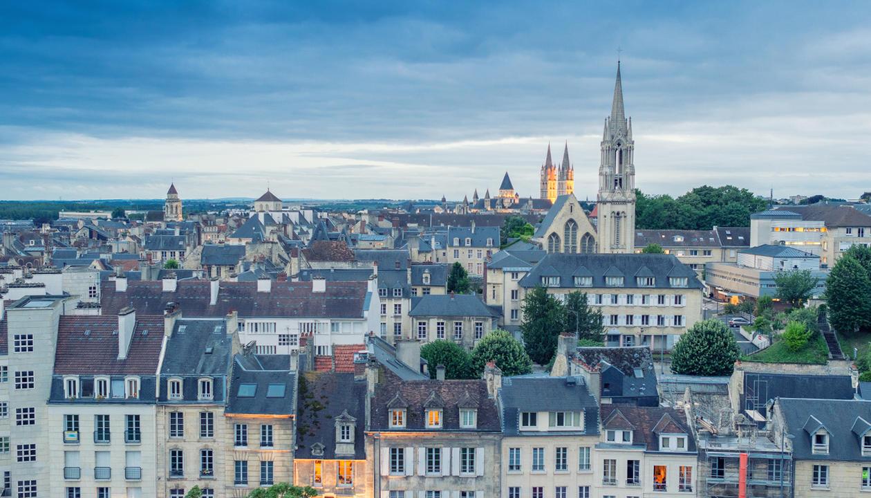 Utsikt over Caen