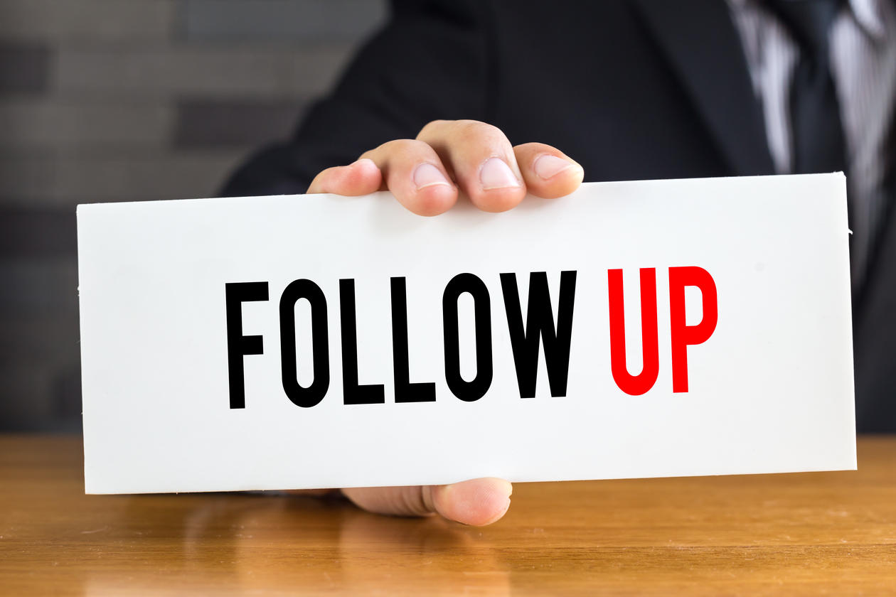 how to follow up wtih an employee
