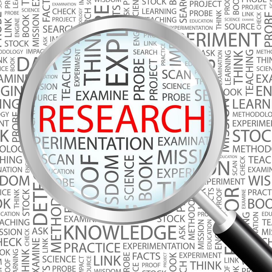 Masse ord, der ordet forskning er forstørret