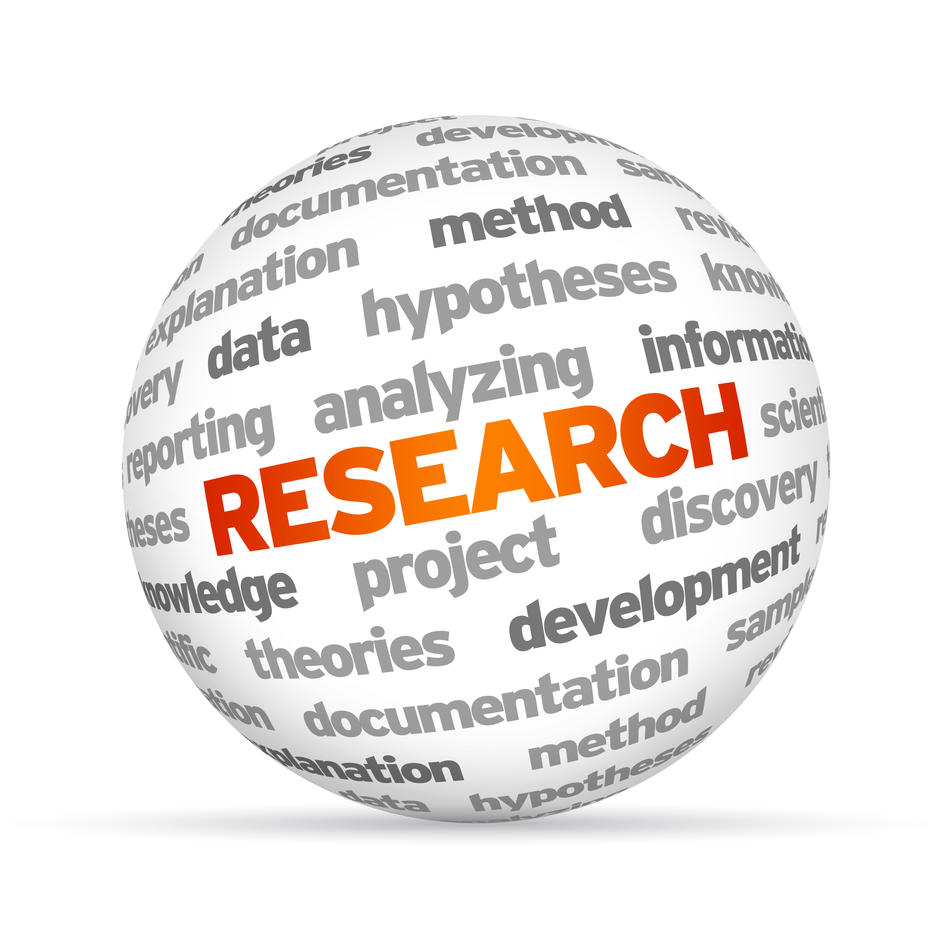 Globus with the word research on it