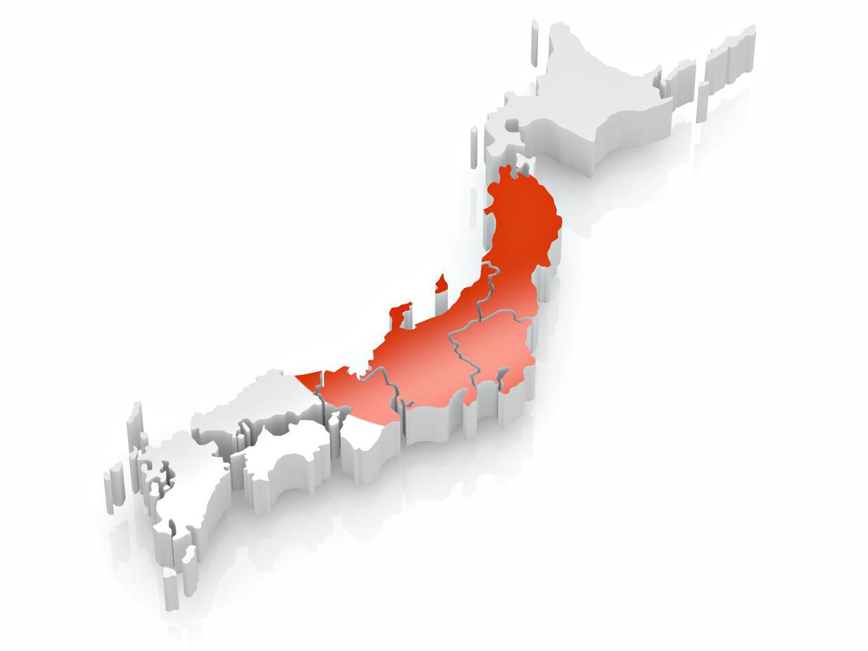 Map of Japan, illustration