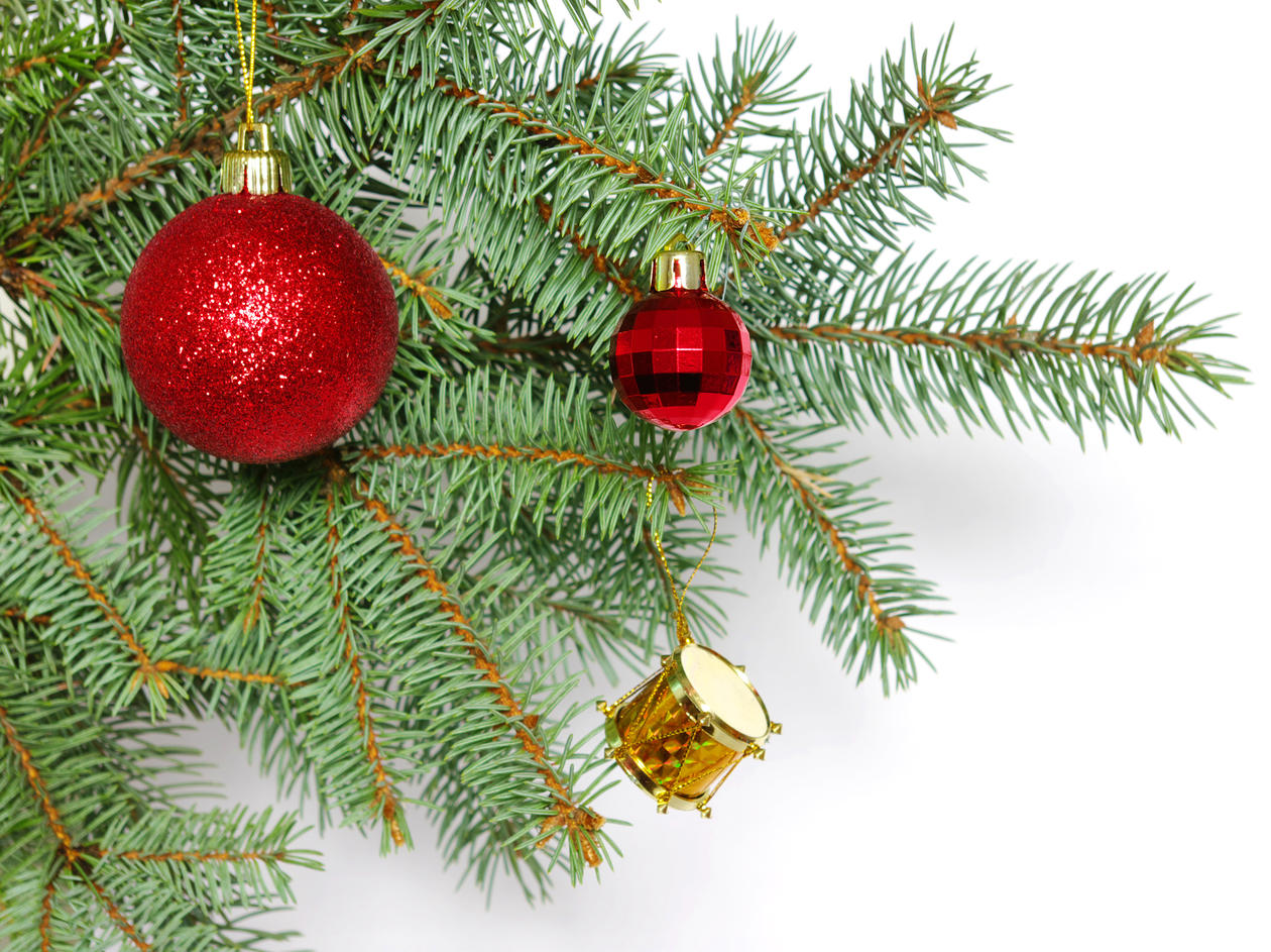 Pyntet juletregrein