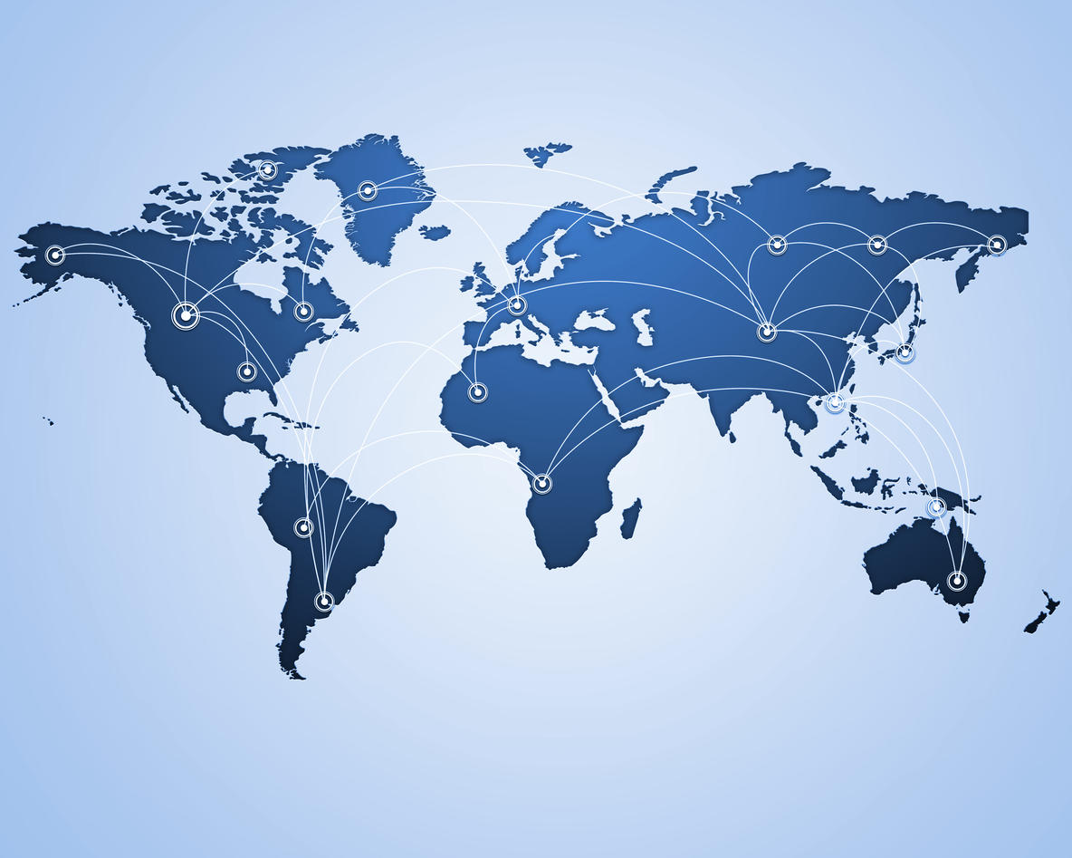 Illustrasjon av globalisering fra Colourbox.