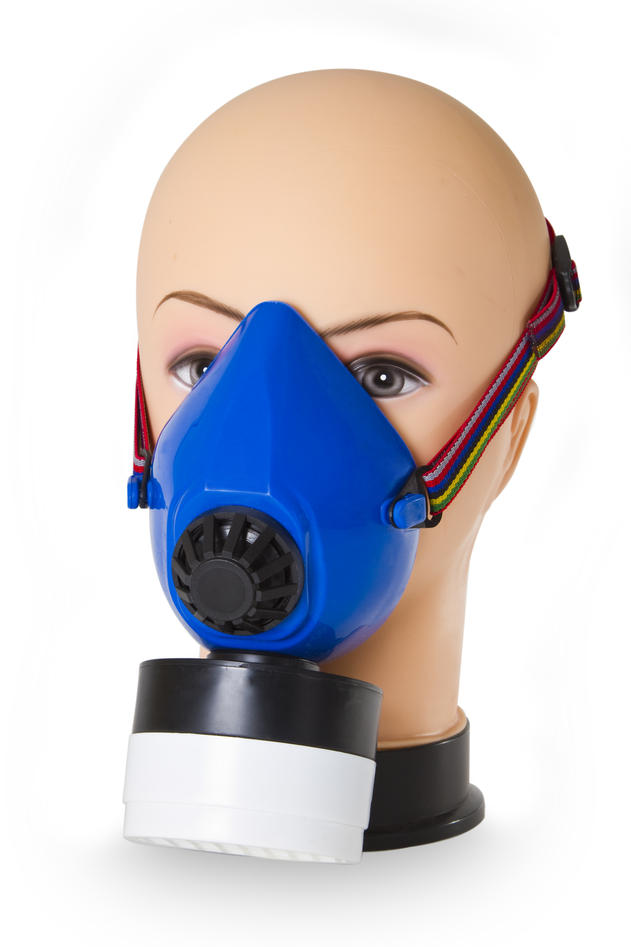 Halvmaske gass
