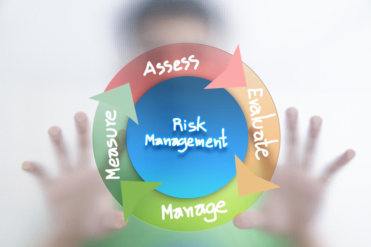visualisering av elementene innen risk management