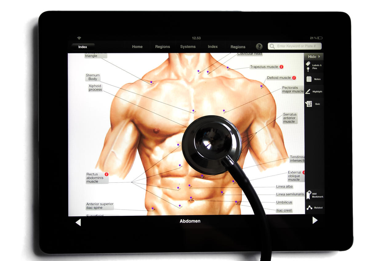 Image showing doctor's medical tablet with stethoscope.