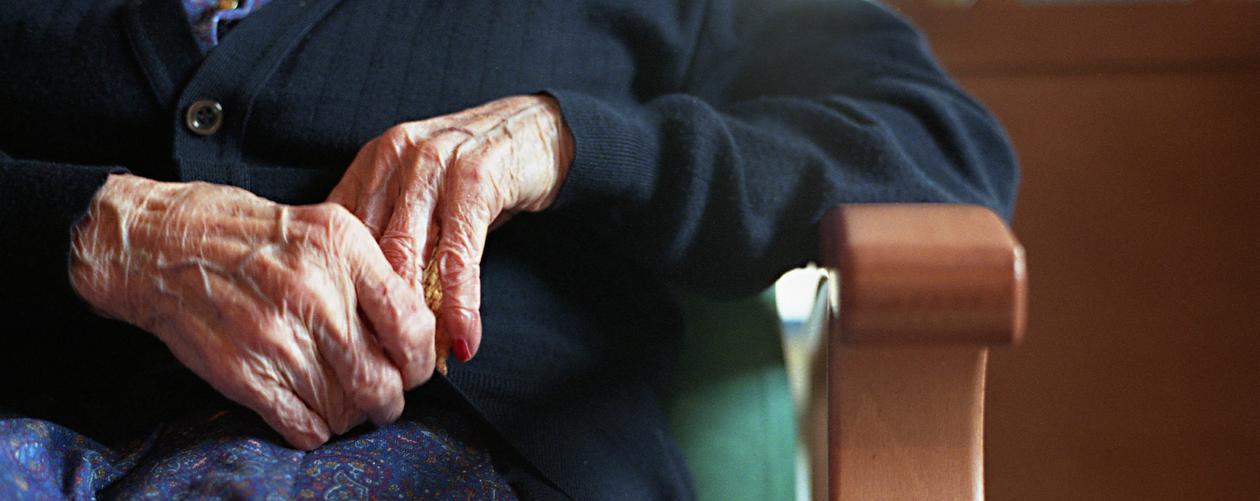 eldre dame, sykehjem, demens
