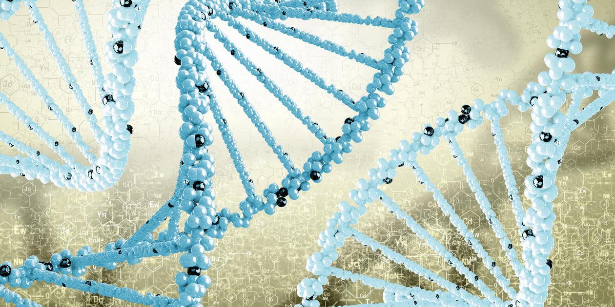 Schematic representation of DNA strands
