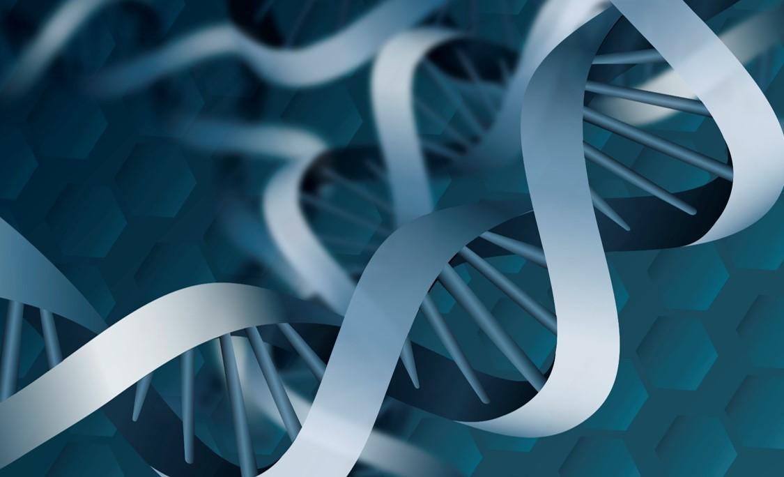 Abstrakt DNA illustrasjon
