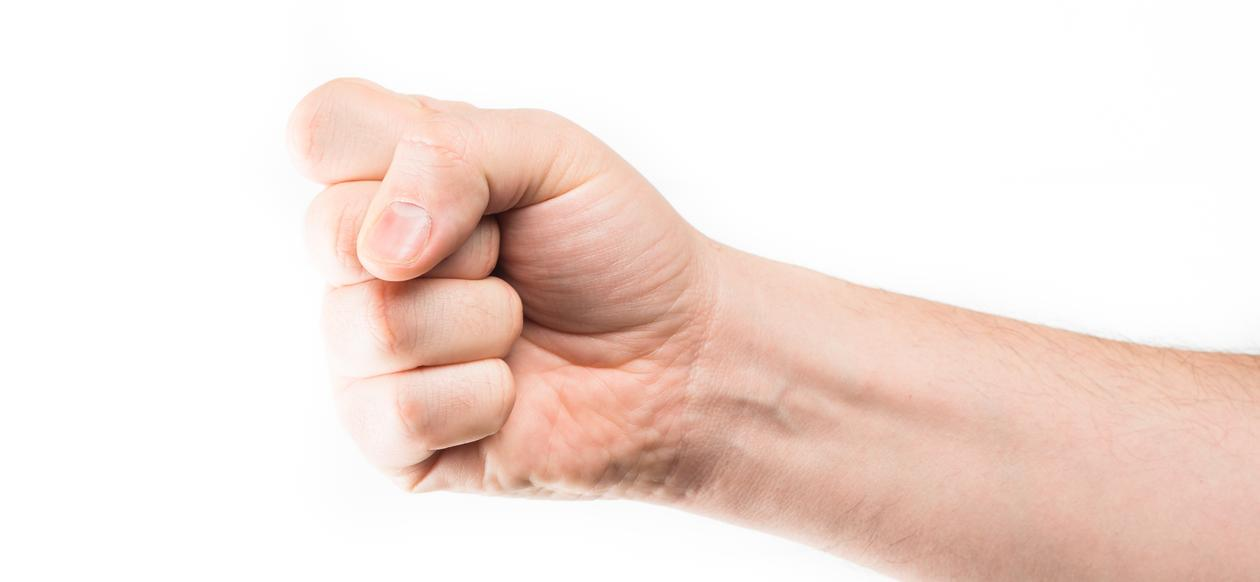 The picture shows a fist.