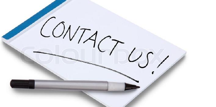 """Bilde av en lapp med teksten """"contact us"""""""