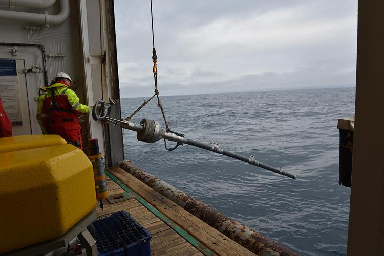 launching the gravity corer