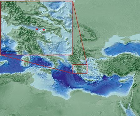Photo over område som ekspedisjonen skal jobbe
