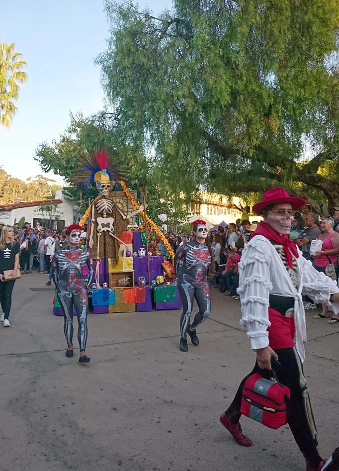 festival parade in the street.