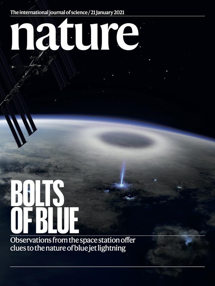 Fremsiden på Nature, januar 2021