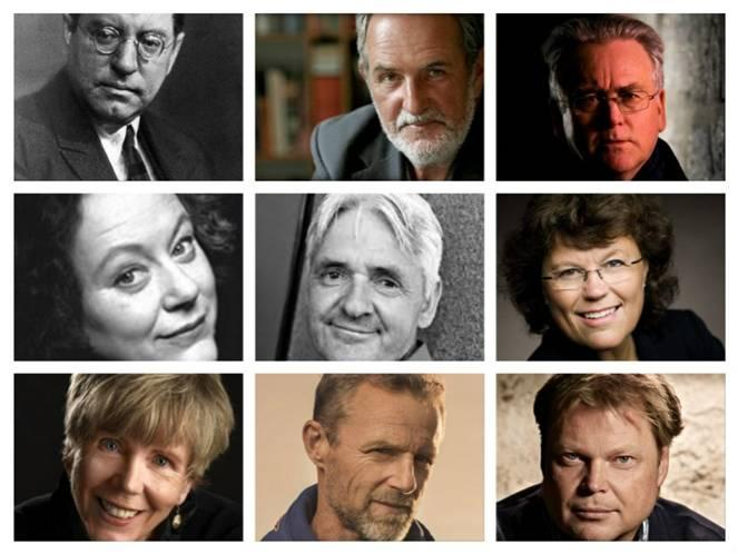 Images of Norwegian crime fiction writers.