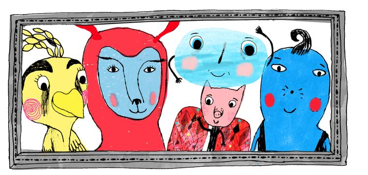 Figurer fra den danske iPad-appen for barn, Wuwu.