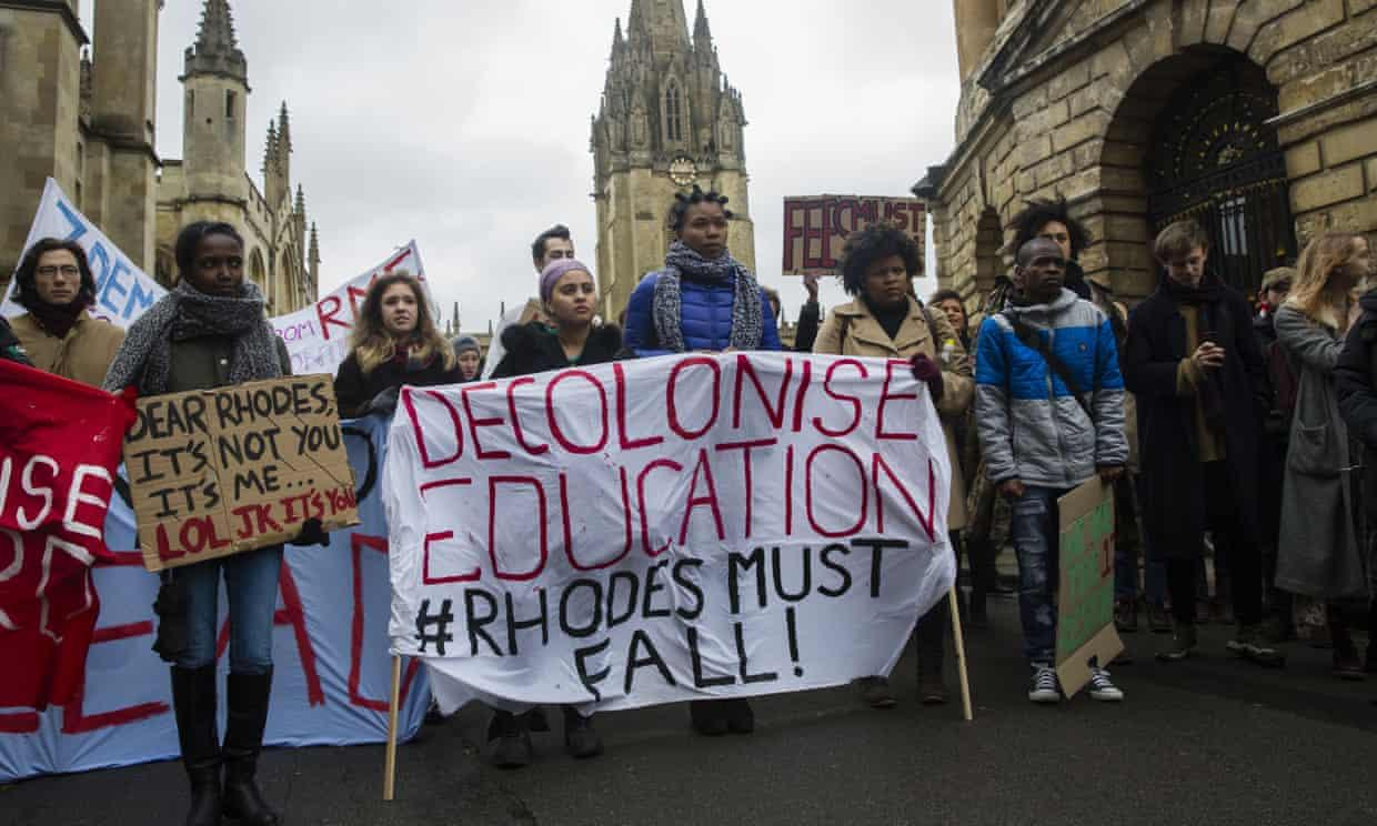 Students protest for decolonization in the UK