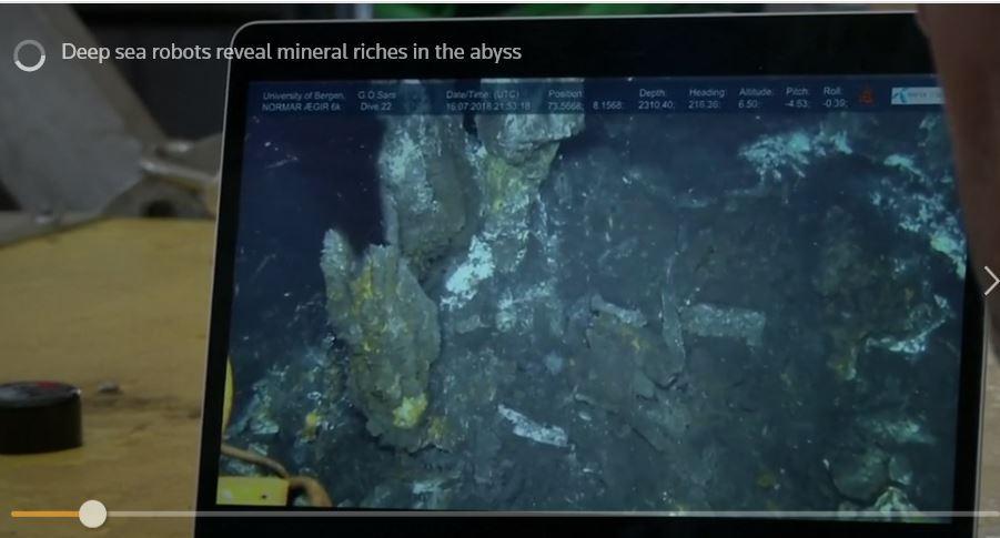 Bilde av film på pc skjerm deep sea tokt
