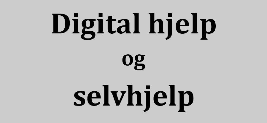 Teksten Digital hjelp og selvhjelp