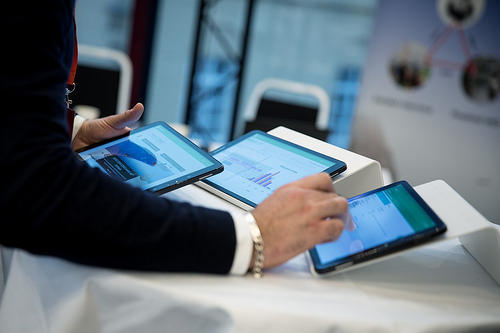 Ipad demonstrasjon under Digital Myldredag