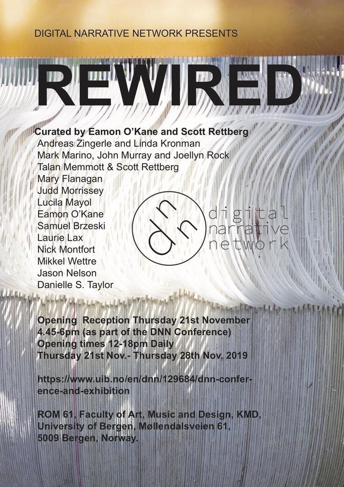 Rewired exhibition poster