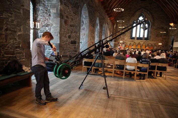 Filming i Håkonshallen