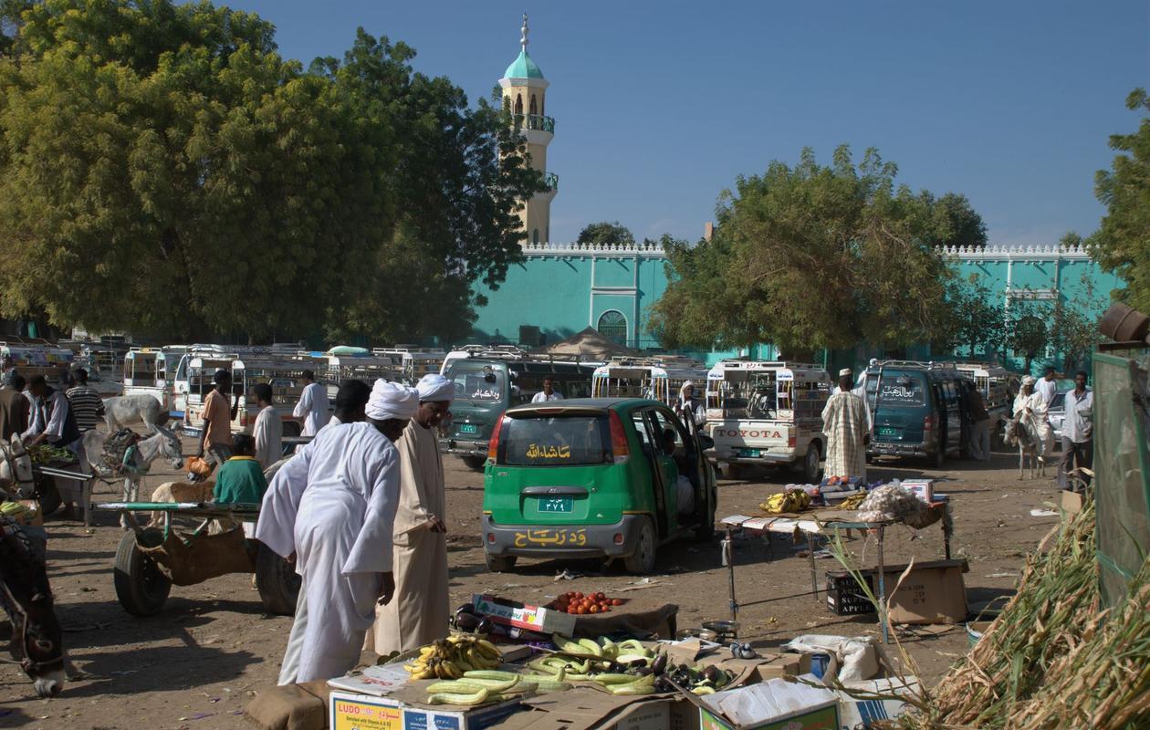 Marked i Dongola, Sudan