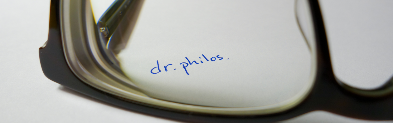 Dr.philos written on paper